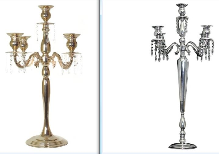 Elegant Tall Wedding Candelabras