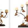 2 metal candelabras gold scroll