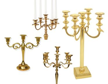 Selection of Gold Candelabra Centerpieces