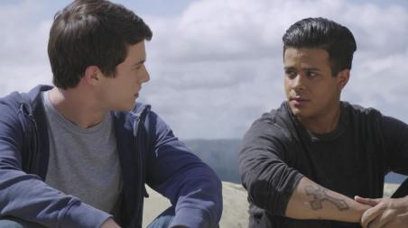 Dylan Minnette and Christian Navarro in Netflix's 13 Reasons Why