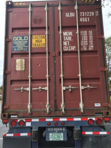 This is the money shot. The container is fully loaded and we've recorded the container number.
