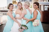 Bridal hair and makeup, bridesmaid makeup in association with Mink