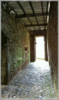 Walkway into the castle kitchen.