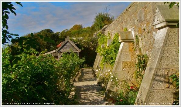 Castle Leoch Gardens, top walkway.