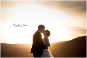 Bride & Groom at Sunset at Kelowna