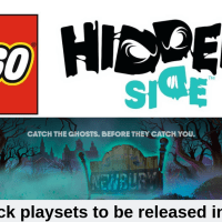 LEGO - HIDDEN SIDE - FACT SHEET and PRESS RELEASE - 8 SETS - AUG 2019