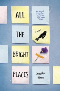 Book cover for All the Bright Places by Jennifer Niven.