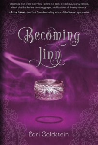 Book cover for Becoming Jinn by Lori Goldstein.