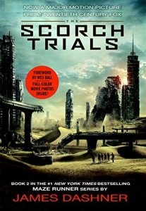 Book cover for The Scorch Trials by James Dashner.
