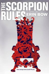 Book cover for The Scorpion Rules by Erin Bow.