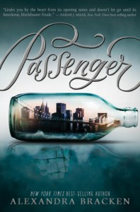 Book cover for Passenger by Alexandra Bracken.