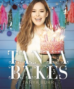 Book cover for Tanya Bakes by Tanya Burr.