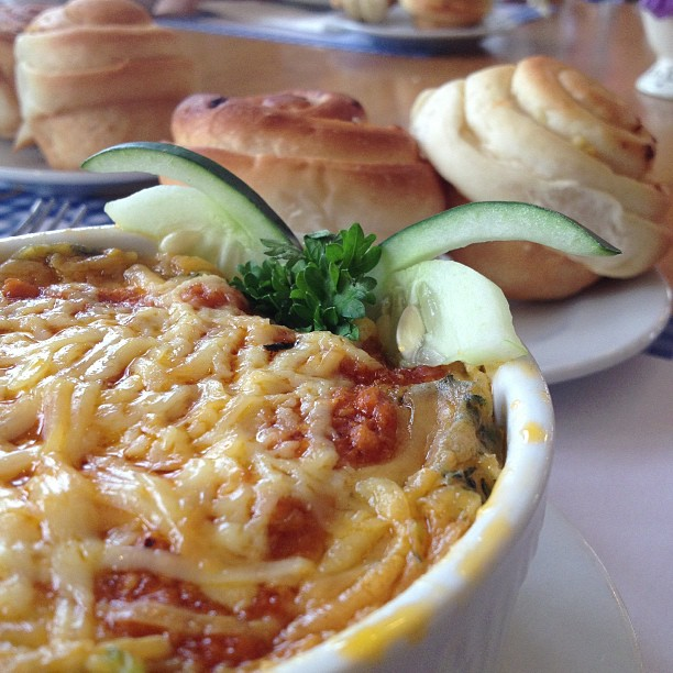 Chicken Spinach Lasagna by Mom and Tina's Bakery & Cafe