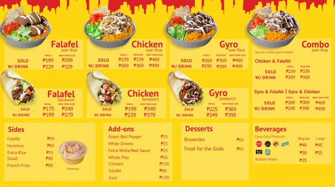 The Halal Guys Philippines menu 7