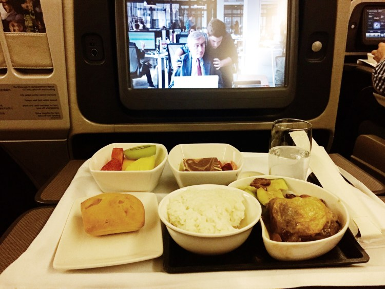 Cathay Pacific Business Class inflight meals