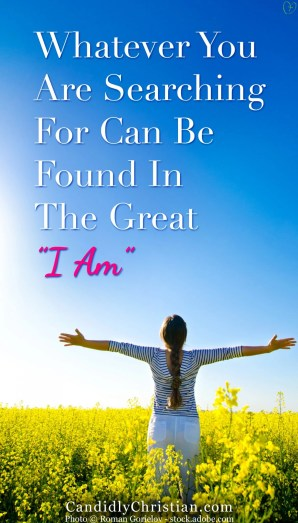 "Whatever You Are Searching For Can Be Found In The Great ""I AM"""