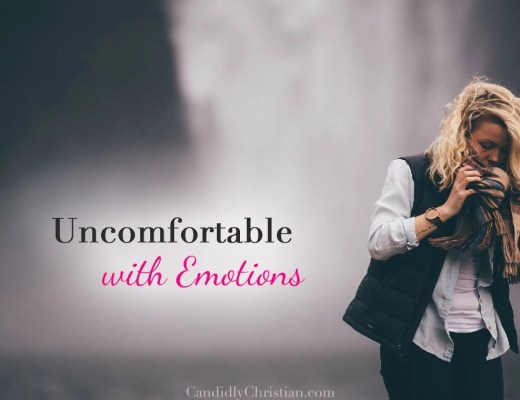 Uncomfortable with emotions...