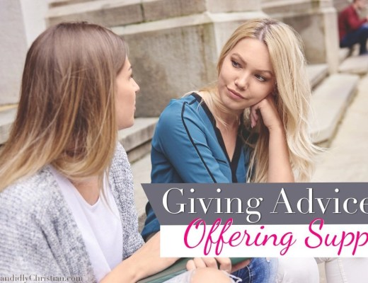 Giving Advice vs Offering Support