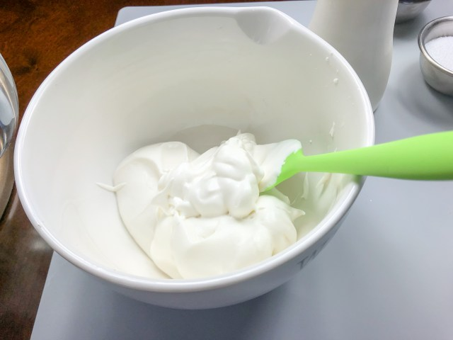 Whipped Sweet Cream for the Lotus Mousse Cups