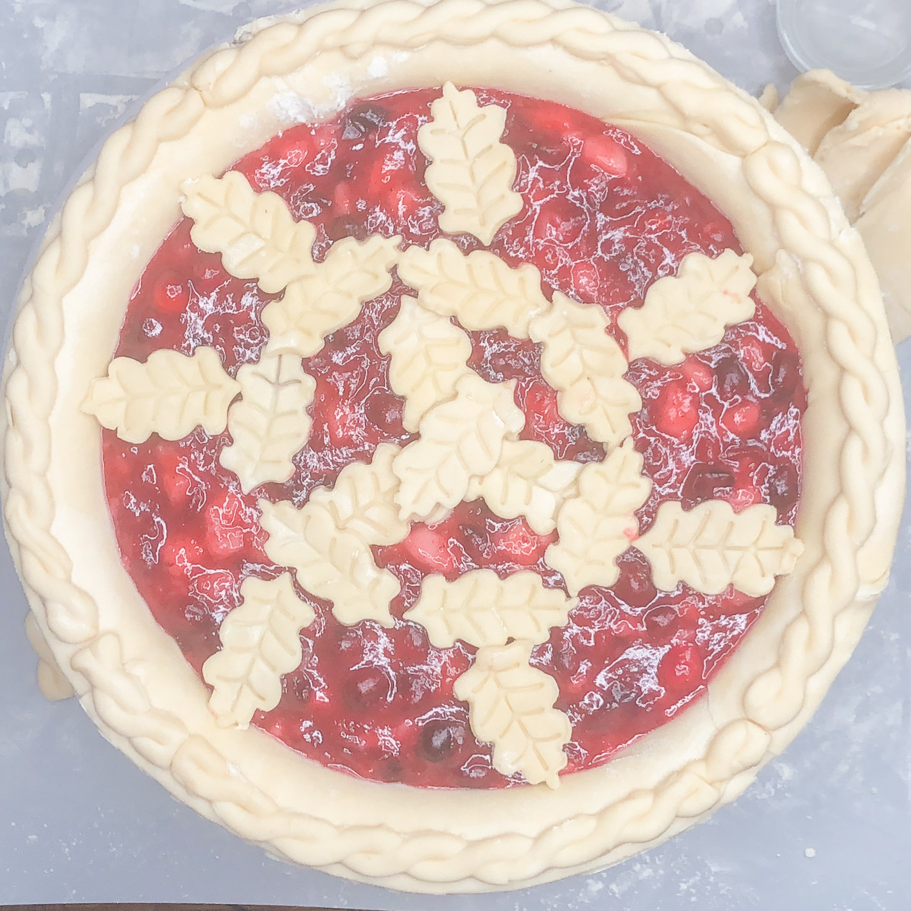 Cranberry-Pear Pie by Candidly Delicious