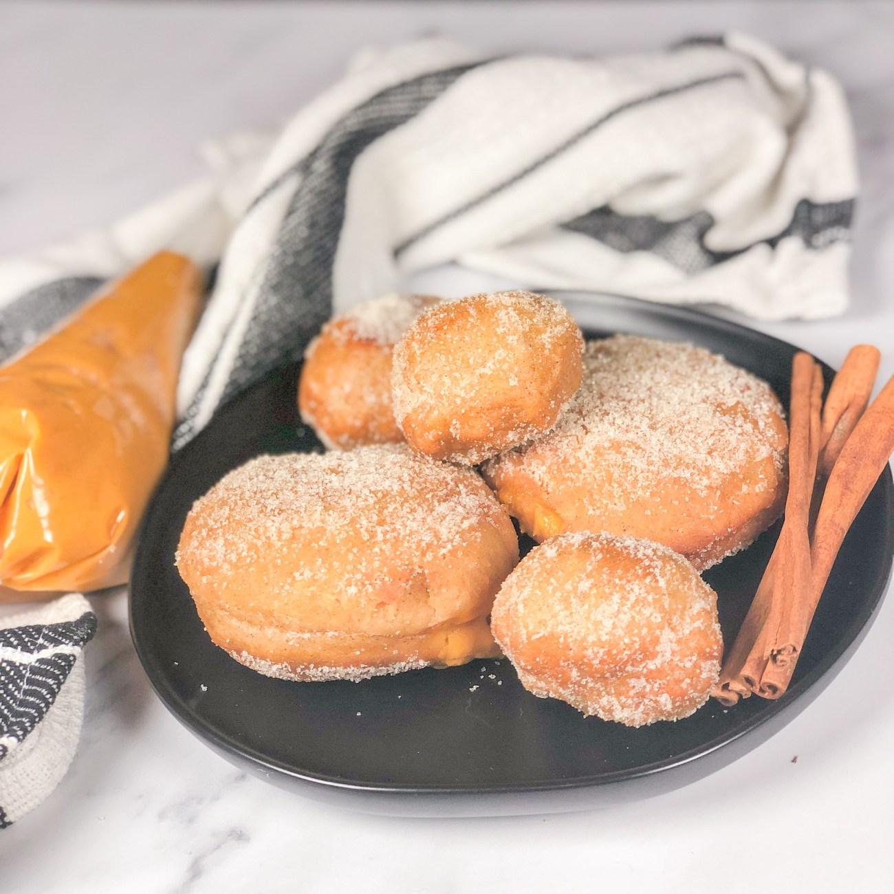 Cinnamon Donuts with Pumpkin Custard
