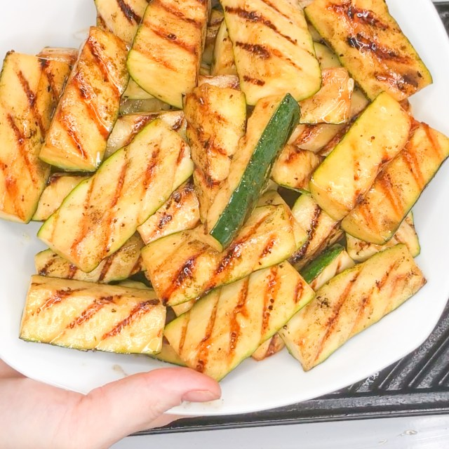Hearty, tendercrisp Grilled Zucchini