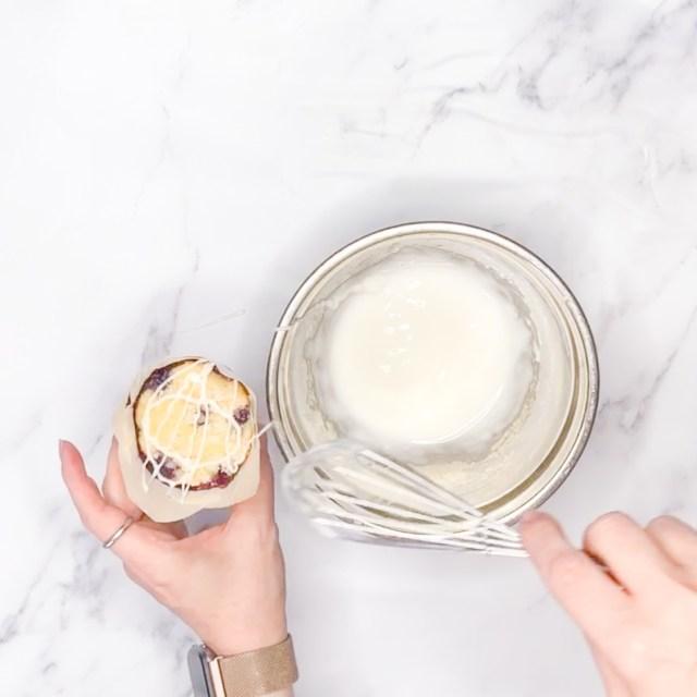 Glaze the muffins