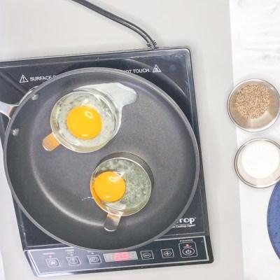 Add Eggs, Kosher Salt and Black Peper