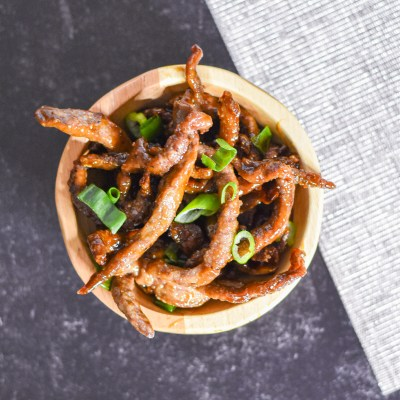 Better than Takeout Chinese Crispy Beef by Candidly Delicious
