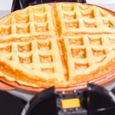 Corn Scallion Waffle