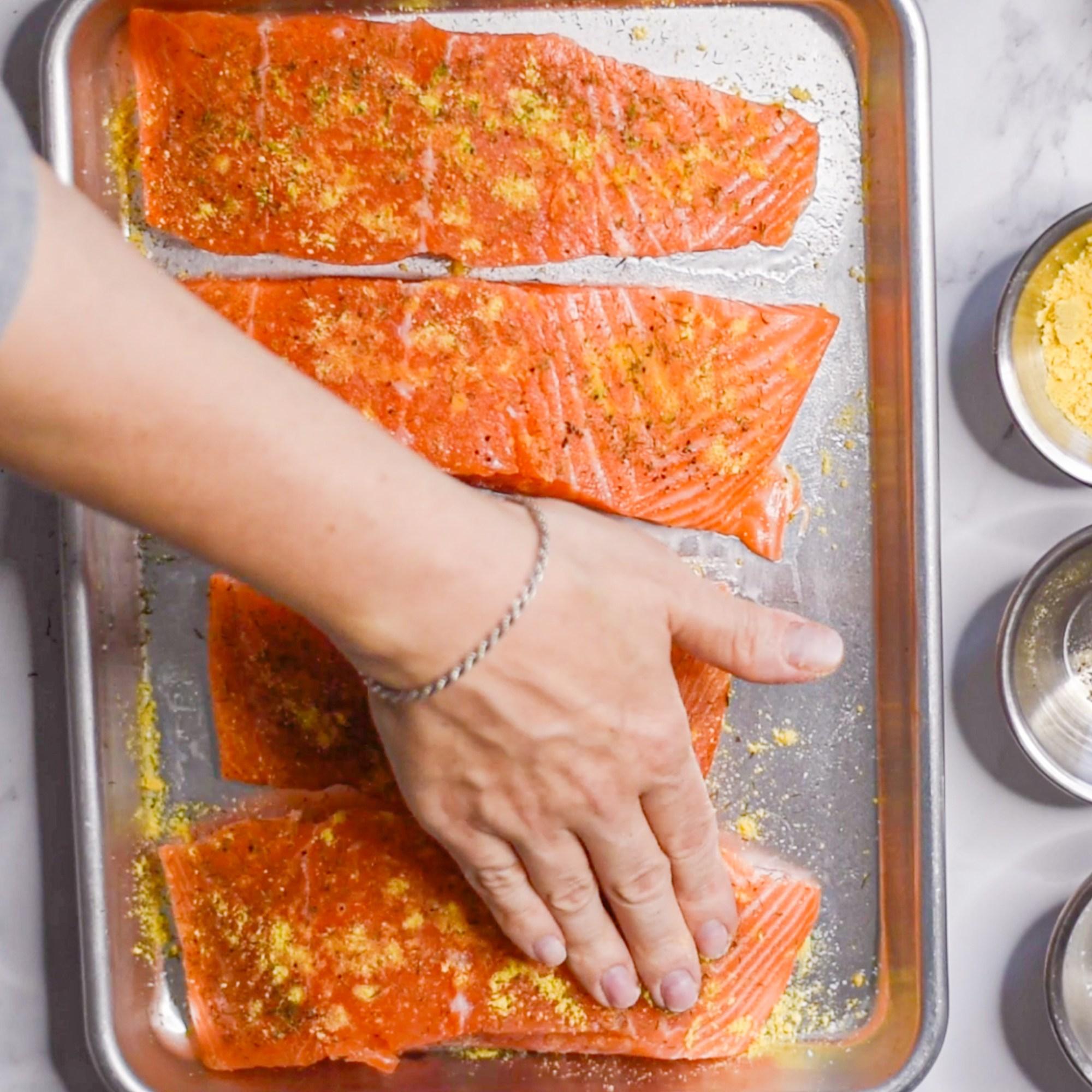 Crispy Mustard Dill Salmon Rub in Spices