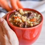 Instant Pot Beef Barley and Mushroom Soup by Candidly Delicious
