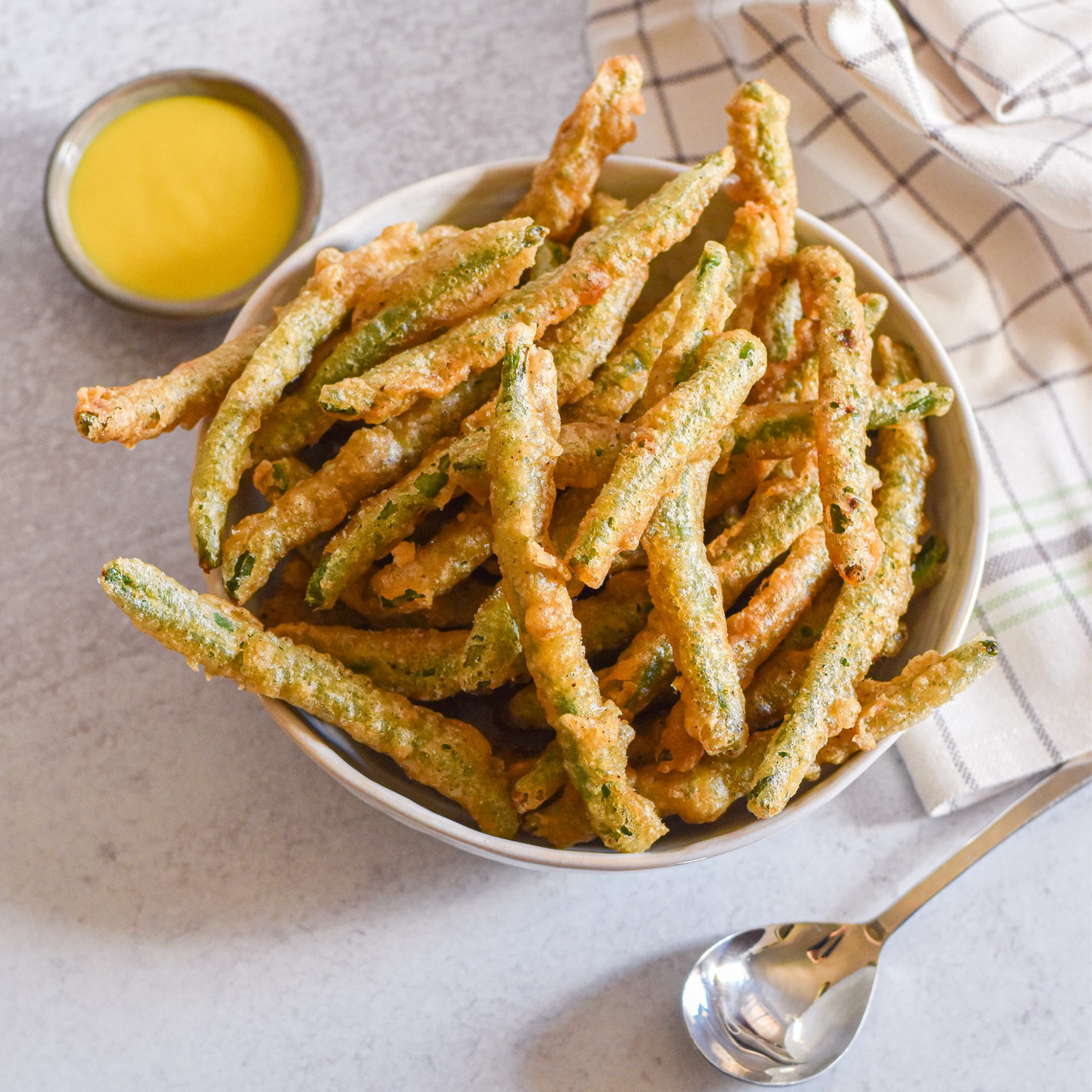 Fried Green Beans by Candidly Delicious