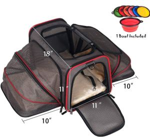 Cat  Pet Peppy Premium Airline Approved Expandable Pet Carrier