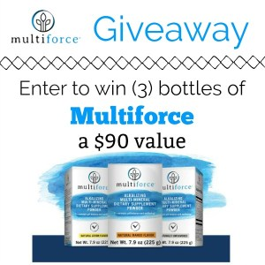 Multiforce Dietary Supplement Powder Giveaway [Ends 8/31]