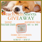 PeachSkin Sheets Giveaway [Ends 9/8]