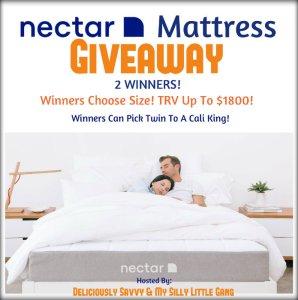 NECTAR Mattress Giveaway {2 Winners} [Ends 4/30]
