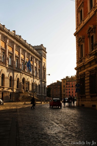 Golden hour before the sun sets in Rome