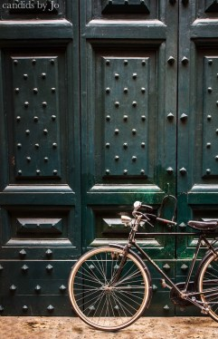 Plentiful in Rome: studded doors