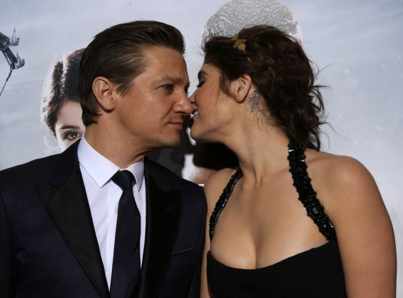 "Jeremy Renner and Gemma Arterton arrive at the Los Angeles premiere of ""Hansel and Gretel: Witch Hunters"" held at Grauman's Chinese Theatre on Thursday, January 24, 2013 in Hollywood, Calif. (Photo by Alex J. Berliner/ABImages)"