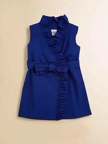 Milly Mini Toddler's & (Little Girl's) Ruffled Wrap Dress in Cobalt Blue Dress Easter