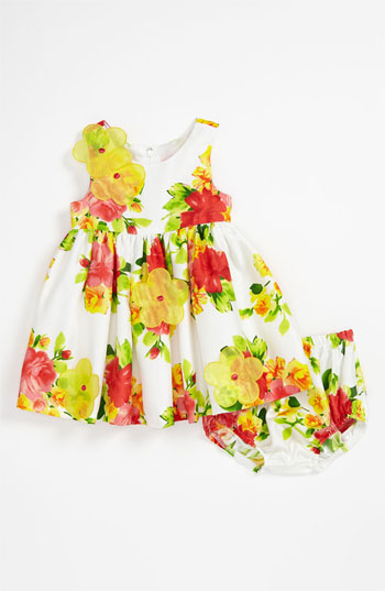 Iris & Ivy Floral Shantung Dress & Bloomers (Infant). Nordstrom