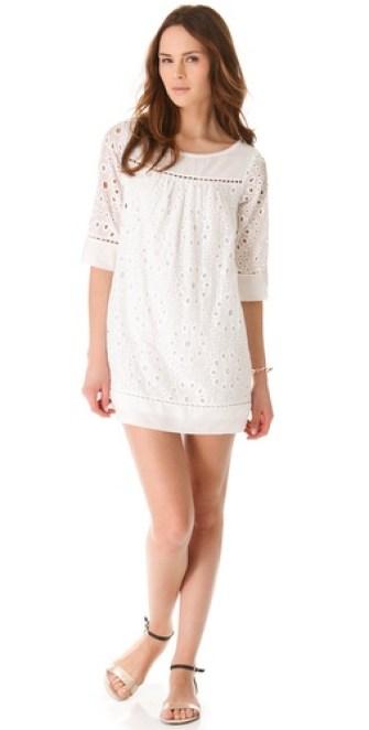 Ella Moss Heidi Eyelet Dress in White. Shopbop