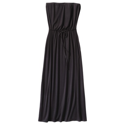 Merona Petites Strapless Tie-Waist Maxi Dress in Black. Target