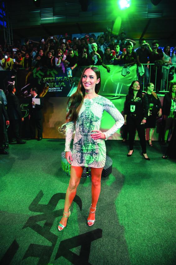 """Latin American Premiere Of """"Teenage Mutant Ninja Turtles""""  MEXICO CITY, MEXICO - JULY 29: Actress Megan Fox attends the Latin American Premiere of Paramount Pictures' """"TEENAGE MUTANT NINJA TURTLES"""" at Cinepolis Acoxpa, on July 29, 2014 in Mexico City, Mexico. (Photo by Lucian Caapellaro / Paramount Pictures International)"""