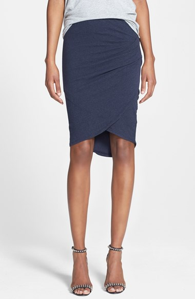 James Perse Tulip Hem Skirt in True Navy