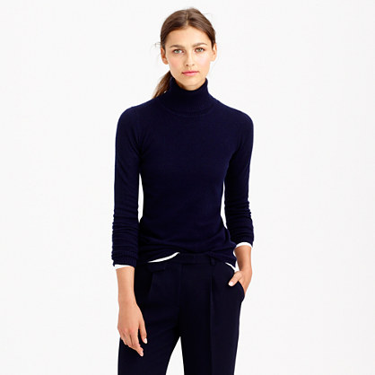 J.Crew COLLECTION CASHMERE TURTLENECK SWEATER item 99166 in navy blue