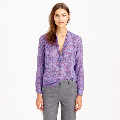 J.Crew VOILE POPOVER IN LIBERTY EMMA AND GEORGINA HYACINTH FLORAL item a9875 in Hyacinth