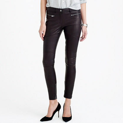 J.Crew COLLECTION LEATHER BIKER PANT item b1459 in Black