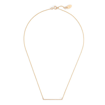 J.Crew GABRIELA ARTIGAS® 14K GOLD BAR AND WHITE DIAMOND NECKLACE item b5078